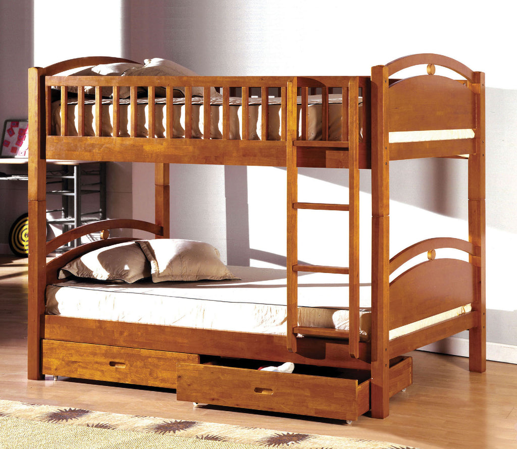 COASTAL I TWIN/TWIN BUNK BED WITH 2 DRAWERS