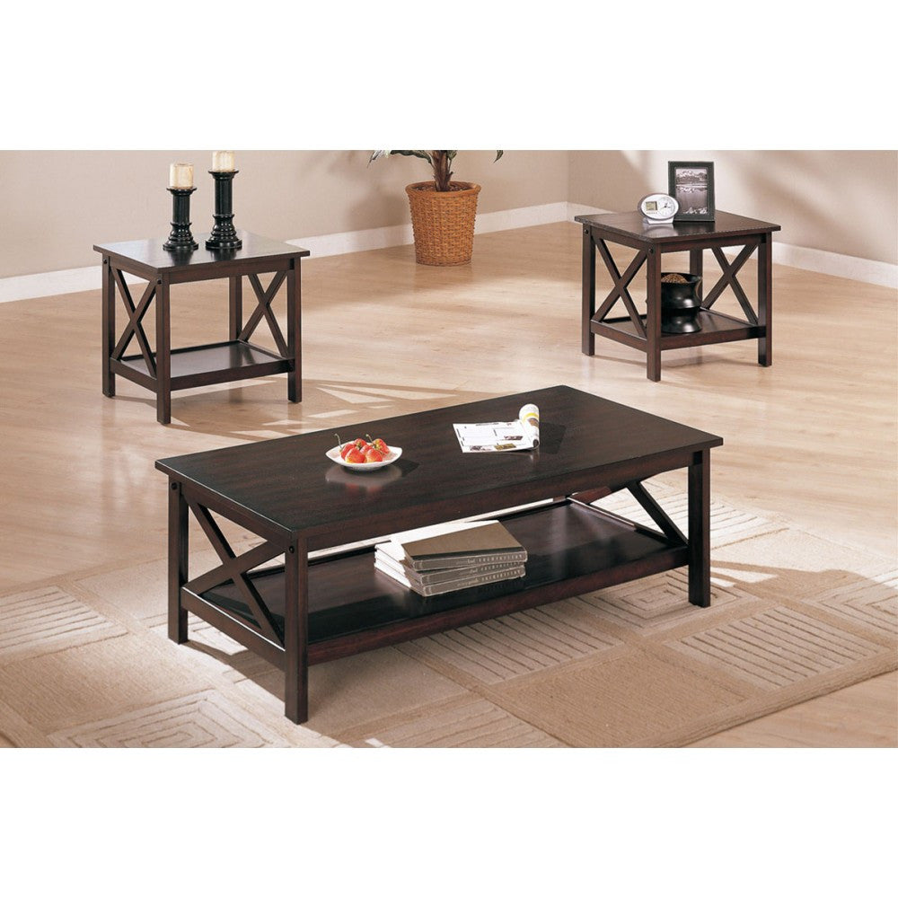 POUNDEX F3069 3-PCS COFFEE TABLE SET
