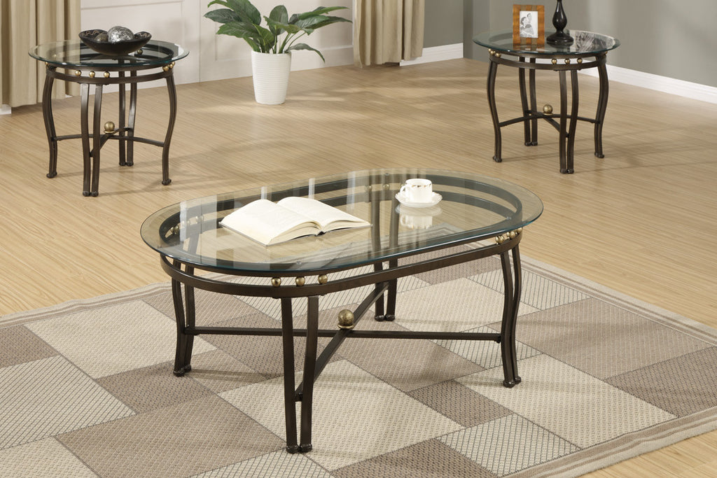 POUNDEX F3093 3-PCS COFFEE TABLE SET