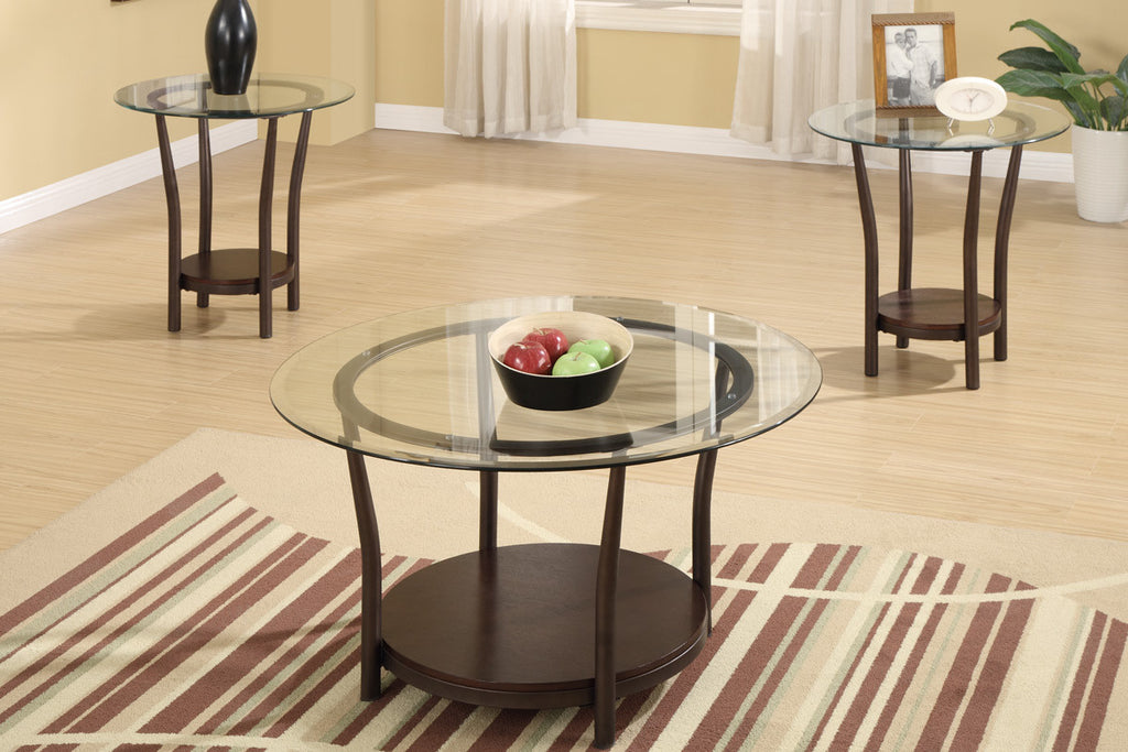 POUNDEX F3095 3-PCS COFFEE TABLE SET
