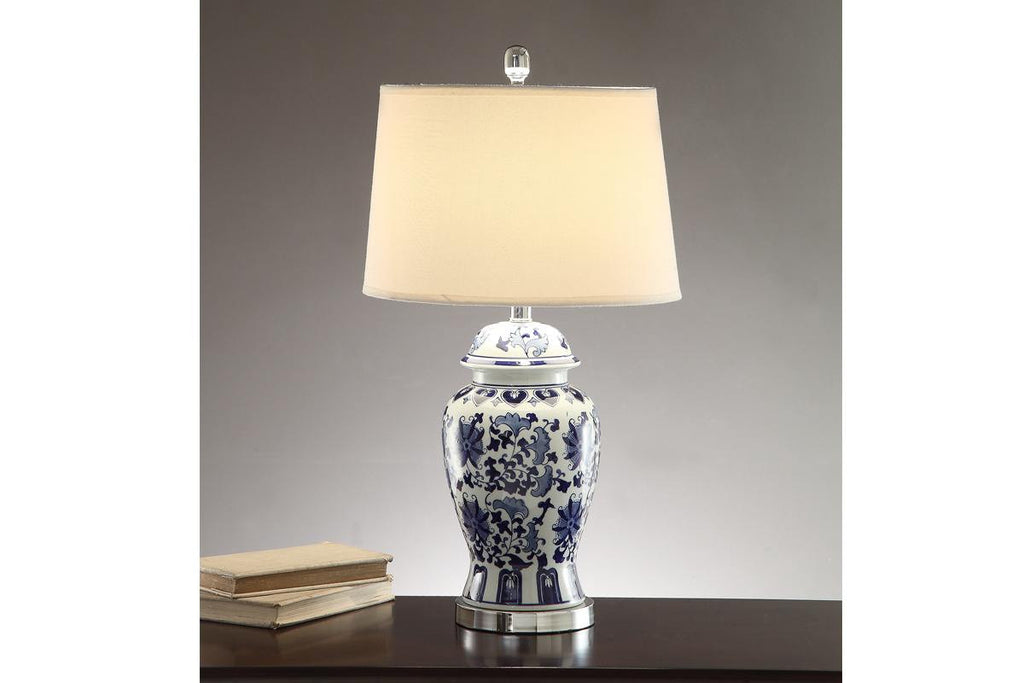F5372 SILVER CERAMIC LAMP SET OF 2