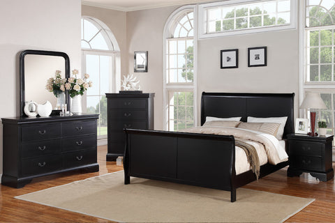 AC22420Q 4PCS MERIVALE WHITE QUEEN PANEL BEDROOM SET