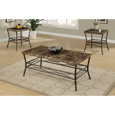 POUNDEX F3097 3-PCS COFFEE TABLE SET