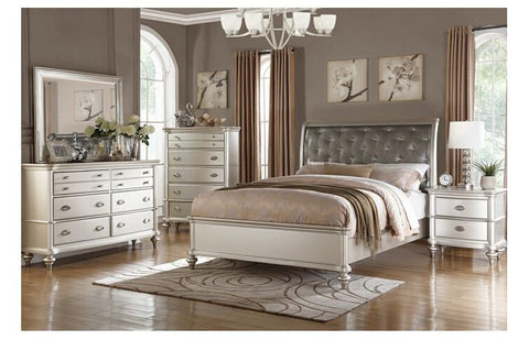 4PCS WHITE QUEEN BED WITH STORAGE BED SET PD9284