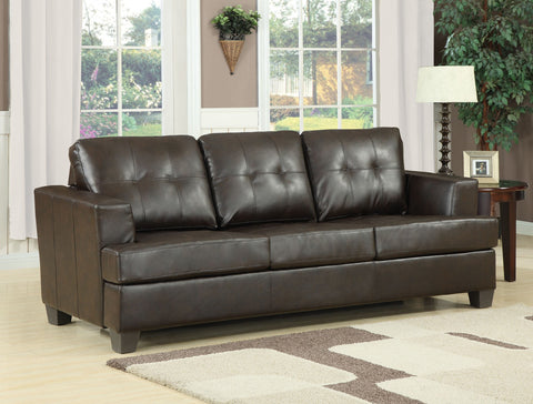 AC15060 BONDED LEATHER SOFA WITH QUEEN SLEEPER