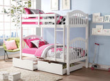 HEARTLAND WHITE KIDS TWIN/TWIN TRUNDLE BUNK BED
