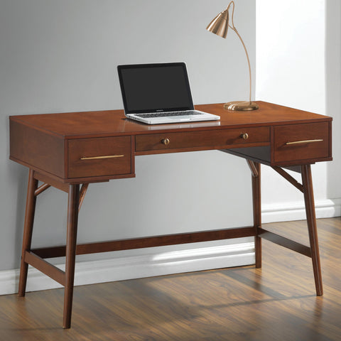 CT800744 WALNUT WRITING DESK WITH DRAWERS