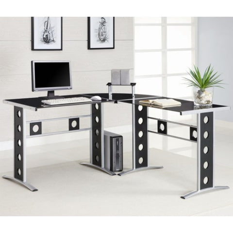 CT800655 ESTRELLA 2PCS WOOD METAL OFFICE WRITING DESK SET