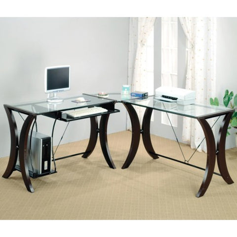 CT801561 CHESTNUT WOOD AND GUNMETAL METAL 2 PCS WRITING DESK SET