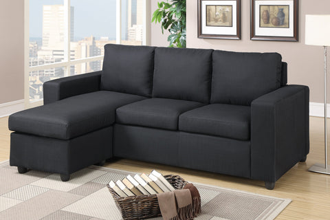 LINEN-LIKE FABRIC REVERSIBLE SECTIONAL SOFA PD7490