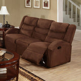 CHOCOLATE MICROFIBER MOTION SOFA PD6668