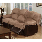 SADDLE MICROFIBER RECLINING SOFA PD6685