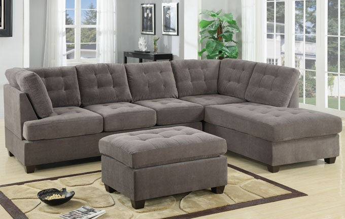 2-PCS SECTIONAL SOFA REVERSIBLE CHAISE PD 7139