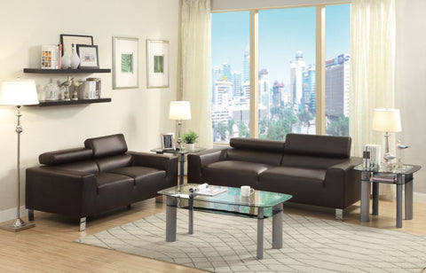 Bonded Leather Sofa & Loveseat PD7265