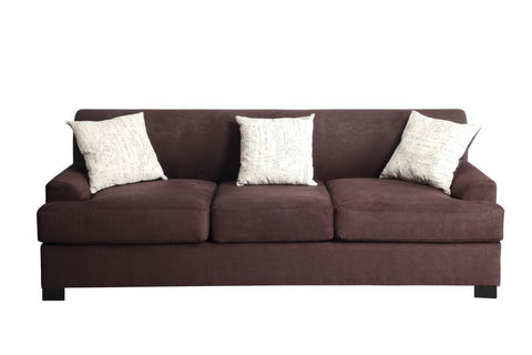 DARK RED POLYFIBER SOFA COUCH PD7963