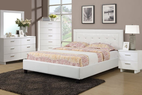 AC20680Q LAYLA 4PCS WHITE PU QUEEN STORAGE BEDROOM SET