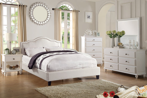 4PCS WHITE QUEEN BEDROOM SET PD9247Q