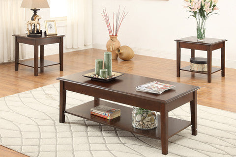 POUNDEX F3139 3-PCS COFFEE TABLE SET