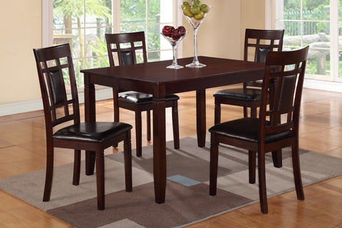 BROWN LEATHER CASUAL DINING SET F2232