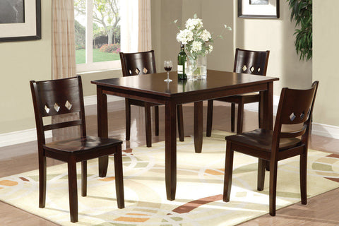 DARK OAK DINING ROOM TABLE SET F2242