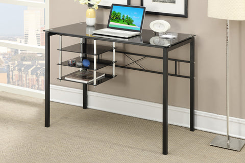 POUNDEX F3047 BLACK GLASS WRITING DESK