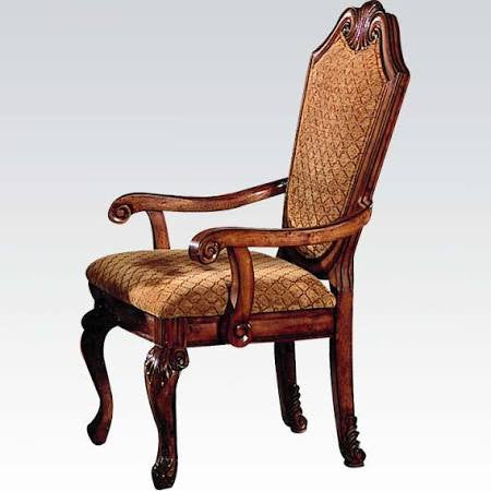 PRISCILLA I FOA-CM3111SC TRANSITIONAL ANTIQUE OAK SIDE CHAIR SET OF 2