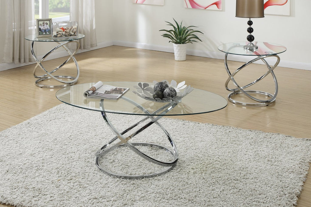 POUNDEX F3087 3-PCS COFFEE TABLE SET