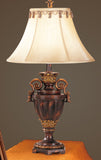 F5204 GOLDEN BROWN ACCENT TABLE LAMP WITH SHADE SET OF 2