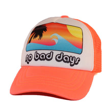 baby trucker hats neon orange