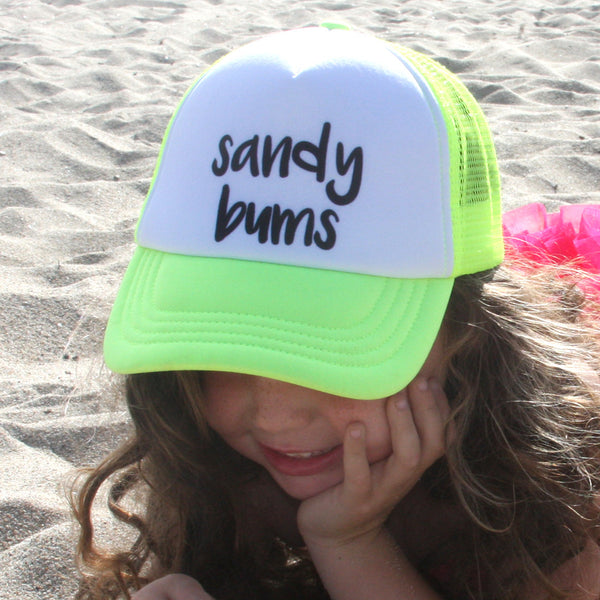 Neon Sandy Bums Youth Trucker Hat