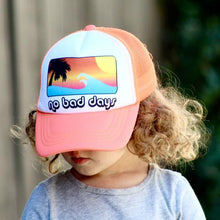 "Neon Orange ""No Bad Days"" Trucker Hat"