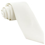"New Polyester Men's 2.5"" skinny Neck Tie only solid formal wedding work white"
