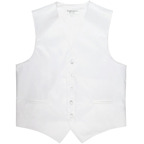 New polyester men's tuxedo vest waistcoat only solid wedding formal white