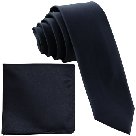 "New Polyester Men/'s 1.5/"" skinny Neck Tie /& hankie set solid formal silver gray"