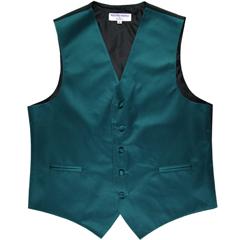 New polyester men's tuxedo vest waistcoat only solid wedding formal sapphire blue