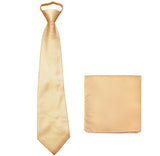 New Polyester Men's pre tied neck tie & hankie solid formal wedding prom