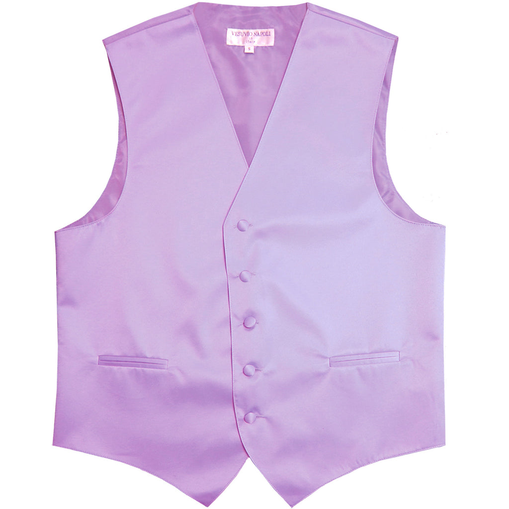New polyester men's tuxedo vest waistcoat only solid wedding formal lavender