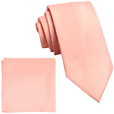 "New Polyester Men's 2.5"" skinny Neck Tie & hankie set solid formal wedding"