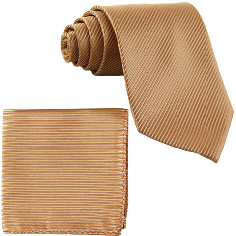 New Men's Formal stripes polyester Neck Ties & Hankie set wedding prom