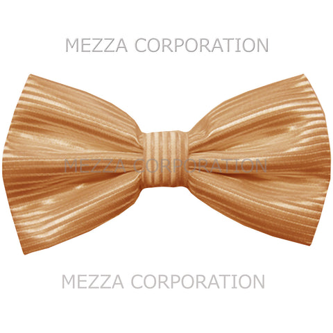 New formal men's pre tied Bow tie Horizontal stripes wedding