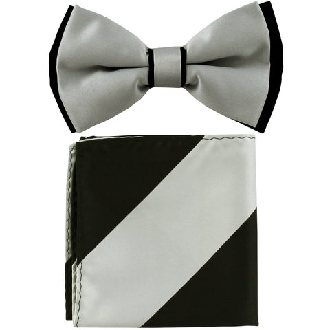 New men/'s pre-tied bowtie tone on tone stripes polyester formal emerald green