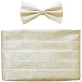 NEW 100% polyester paisleys Cummerbund & bowtie set prom wedding