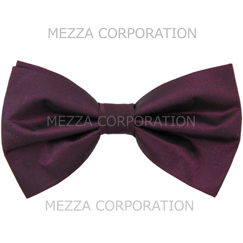 New formal men's pre tied Bow tie chinz solid