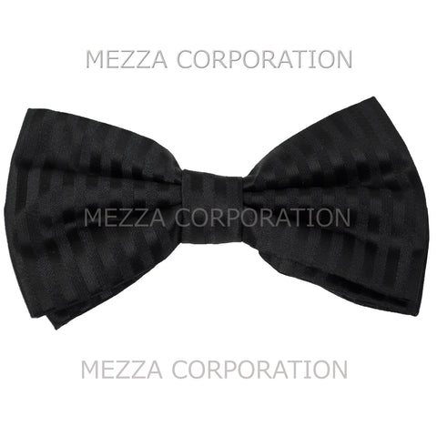 New formal men's pre tied Bow tie stripes
