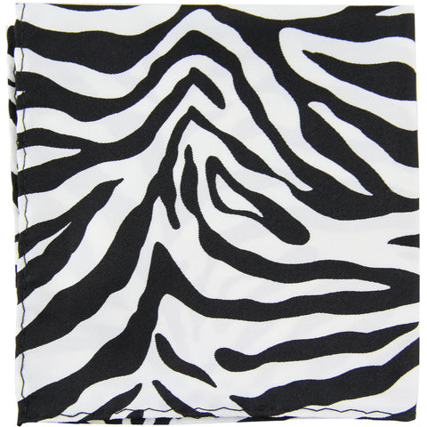 New polyester zebra animal print pocket square hankie handkerchief formal