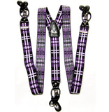 New Men's Suspender Braces Convertible Elastic Strap Plaids & Checkers
