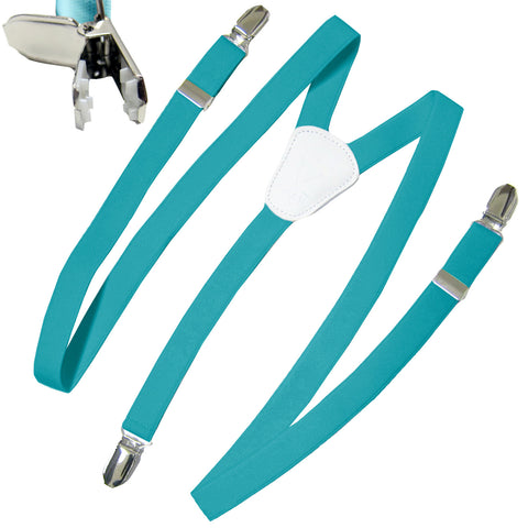 New Kid's Boy's Suspender Braces adjustable strap clip on