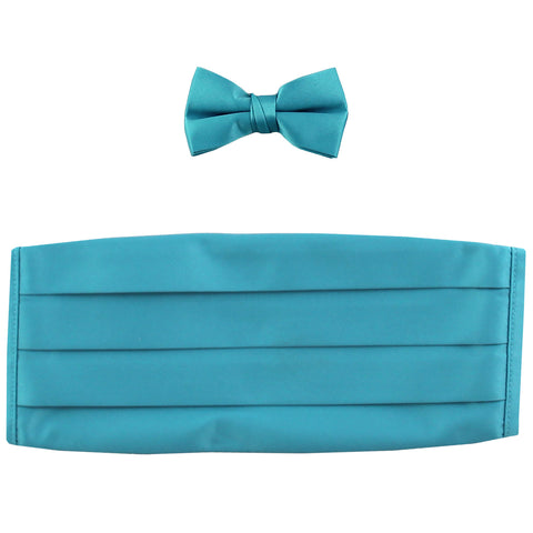 NEW 100% polyester boys kids Cummerbund & bowtie set formal wedding