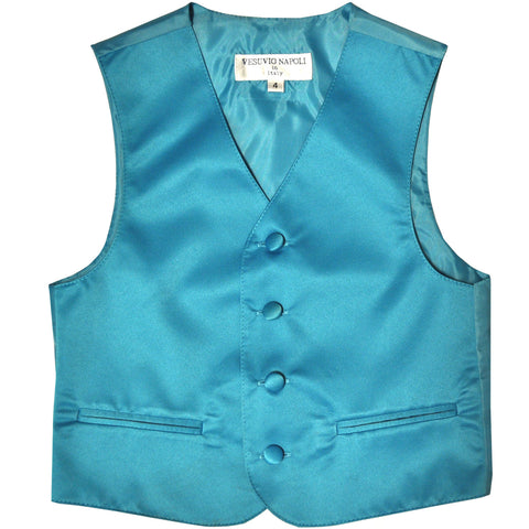 New Boy's Kid's formal Tuxedo Vest Waistcoat only US size 2-14 wedding