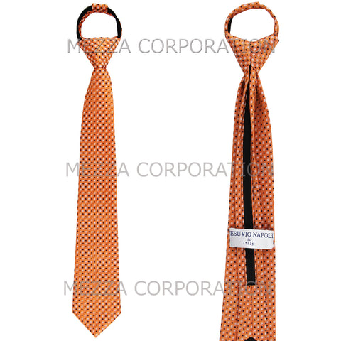 New Boy's Zipper Adjustable Pre-Tied Necktie Dots